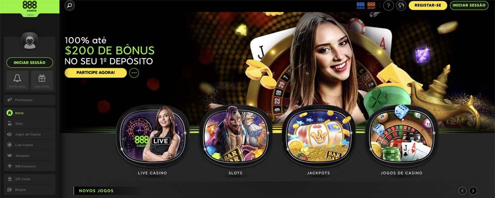 screenshot 888 casino interface